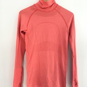 Lululemon orange turtleneck swiftly tech sz 6